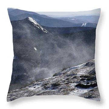 Appalachian Trail - Franconia Ridge-white Mountains New Hampshire Throw Pillow by Erin Paul Donovan