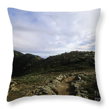 Appalachian Trail - Mount Lincoln - White Mountains New Hampshire Usa Throw Pillow