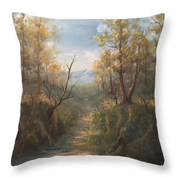 Appalachian View  Throw Pillow