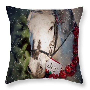 Appaloosa Christmas Throw Pillow