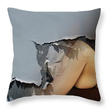 Appealing Nude Throw Pillow by Harry Spitz