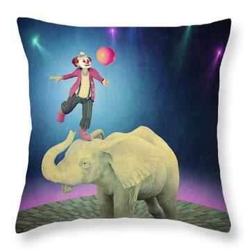 Throw Pillow featuring the digital art Applause by Jutta Maria Pusl