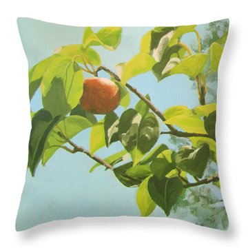 Apple A Day Throw Pillow by Karen Ilari