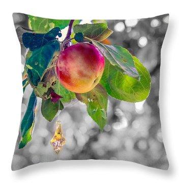 Apple And The Diamond Throw Pillow