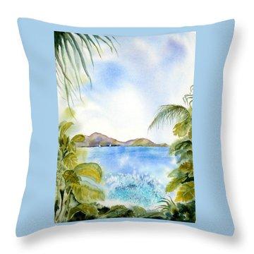 Apple Bay Wave Throw Pillow