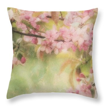 Apple Blossom Frost Throw Pillow