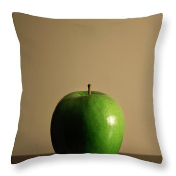 Throw Pillow featuring the photograph Apple by Break The Silhouette