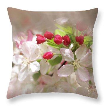 Apple Buds Throw Pillow