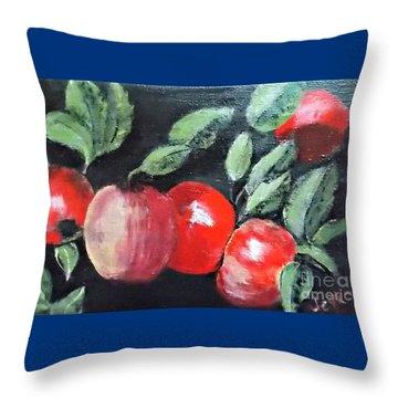 Apple Bunch Throw Pillow