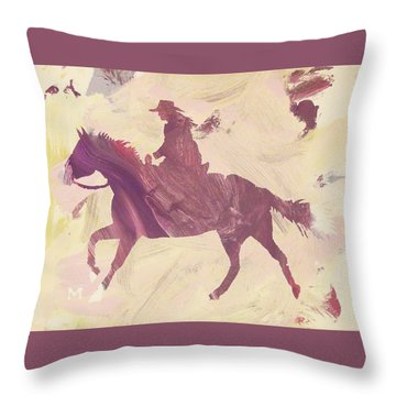 Apple Cowgirl Throw Pillow
