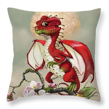 Throw Pillow featuring the digital art Apple Dragon by Stanley Morrison