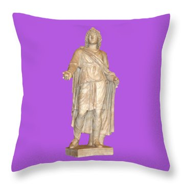 Apple In Hand Throw Pillow