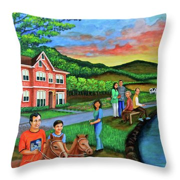 Apple Land Throw Pillow