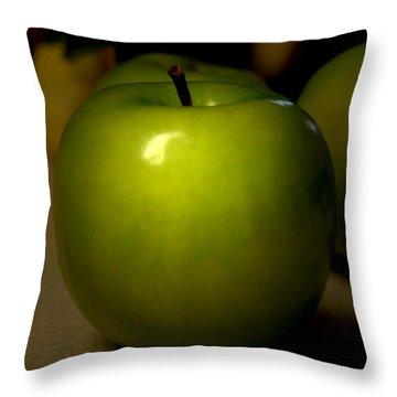 Apple Throw Pillow by Linda Sannuti