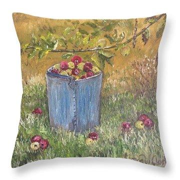 Apple Pickin'  Throw Pillow