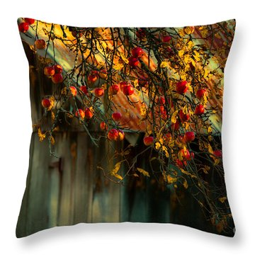 Apple Picking Time Throw Pillow by Sherman Perry