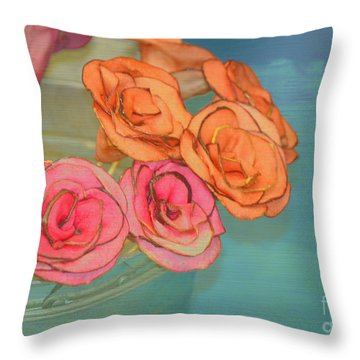 Throw Pillow featuring the photograph Apple Roses by Traci Cottingham