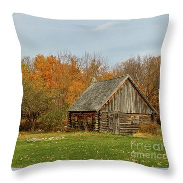 Apple Season At The Woods Throw Pillow