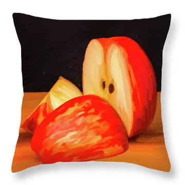 Apple Study 01 Throw Pillow by Wally Hampton