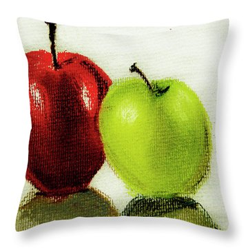 Apple Study Throw Pillow by Linde Townsend