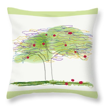Apple Tree  Throw Pillow