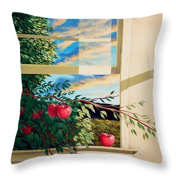 Apple Tree Overflowing Throw Pillow