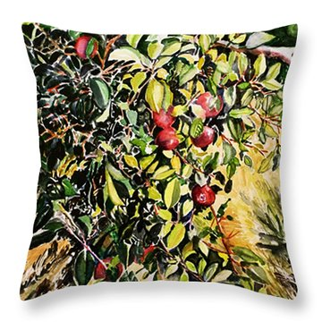 Throw Pillow featuring the painting Apple Tree by Priti Lathia