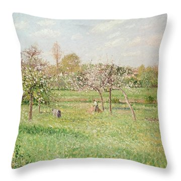 Apple Trees At Gragny Throw Pillow by Camille Pissarro