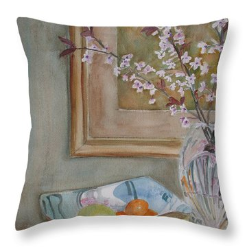 Apples And Oranges Throw Pillow by Jenny Armitage
