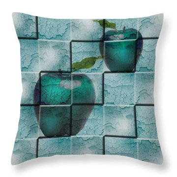 Apples Throw Pillow by Katy Breen