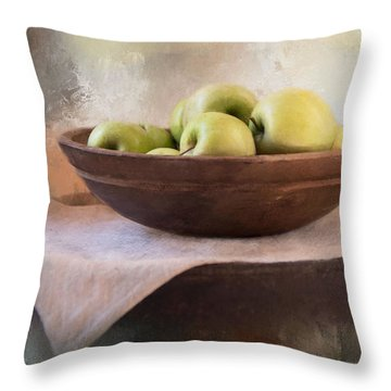 Throw Pillow featuring the photograph Apples by Robin-Lee Vieira