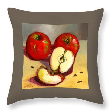 Apples Throw Pillow by Susan Thomas