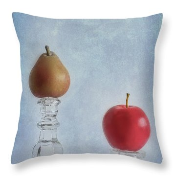 Apples To Pears Throw Pillow