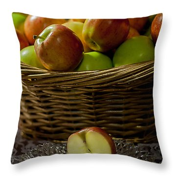Apples To Share Throw Pillow