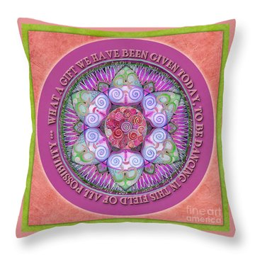 Appreciation Mandala Prayer Throw Pillow