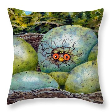 Throw Pillow featuring the painting Apprehension by Sam Sidders