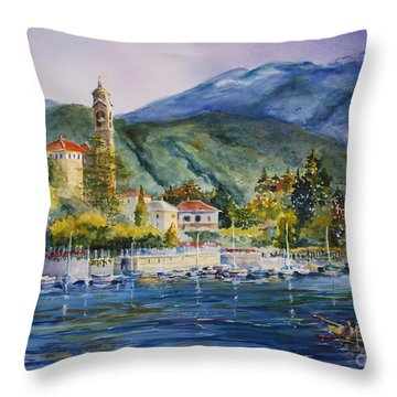 Approaching Bellagio Throw Pillow by Betsy Aguirre