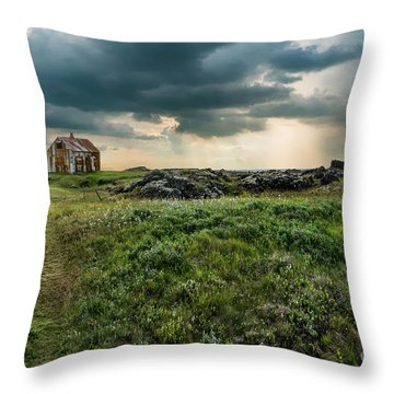 Approaching Forces Throw Pillow