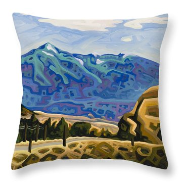 Approaching Garrison Junction Throw Pillow by Dale Beckman