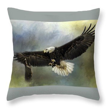 Approaching His Perch Throw Pillow