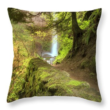Approaching Latourell Throw Pillow