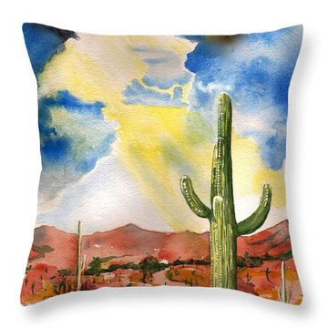 Approaching Monsoon Throw Pillow