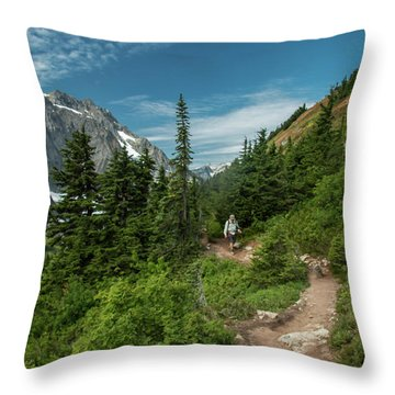 Approaching Sahale Arm Throw Pillow