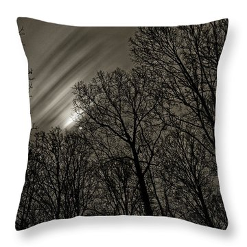 Approaching Storm, Black And White Throw Pillow