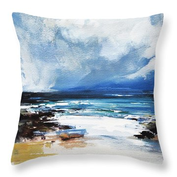 Throw Pillow featuring the painting Approaching Storm by Diane White