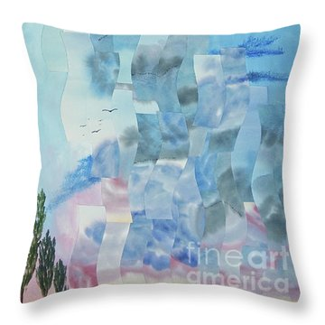 Approaching Storm Throw Pillow by Jeni Bate
