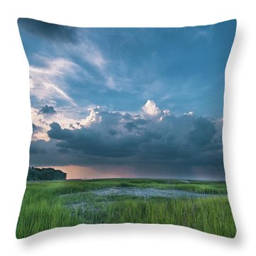 Approaching Storm Throw Pillow by Phyllis Peterson