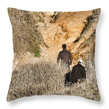 Approaching The Incline Throw Pillow