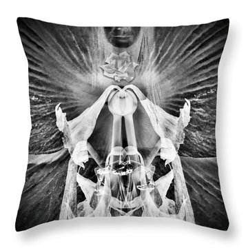 Approximate Deity Throw Pillow by Richard Smith