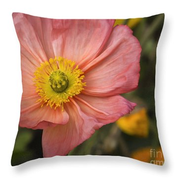 Apricota Poppy Throw Pillow